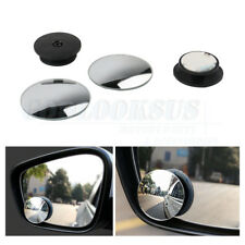 Pair Wide Angle Convex Rear Side View Blind Spot Wing Mirror Universal Fit Car