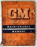 Vintage GM Series 71 2-Cycle Diesel Engine Maintenance Manual 1953 - Worn Cover