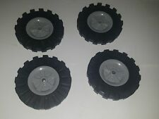 "Lot of 4 K'nex Wheels 3.5"" inch Tires & Rims Replacement Pieces Parts Knex"