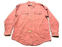 LL Bean Mens Red Front Pocket Button Front Shirt Size Medium