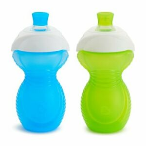 Click Lock Bite Proof Sippy Cup Blue/Green 9 Ounce 2 Count