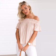 Sexy Women Ladies T-shirt Tops Blouse Pullover Short Sleeve Off shoulder Shirt