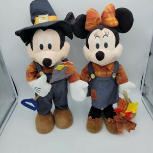 Disney Mickey Minnie Mouse Thanksgiving Fall Harvest Porch Door Greeters Autumn
