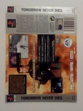 *BACK INLAY ONLY* Bond Tomorrow Never Dies Back Inlay  PS1 PSOne Playstation