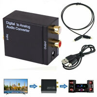 Digital Optical Coax Coaxial Toslink to Analog RCA L/R Converter Adapter Kit
