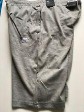 Nike Jersey Club Sweat Jogger Shorts Grey Cotton Size Medium 804419 063