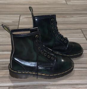 RARE Vintage Dark Green and Black Dr. Martens