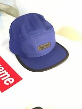 supreme rubber logo camp cap