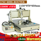 USB 6090T CNC 4 Axis Router Engraver Machine Carving Drilling Milling 1500W +VFD