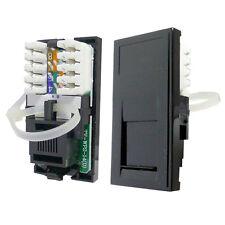 Triax Modular Faceplate CAT6 Network Socket Module Black 304289