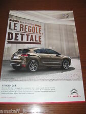 *AN16=CITROEN DS4=PUBBLICITA'=ADVERTISING=WERBUNG=COUPURE=