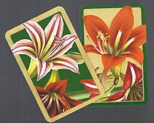 Playing Swap Cards  2  SEMI  VINT   DELUXE  GENUINE CASPARI   FLOWERS  W542