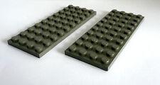 2 x Lego® Bau-Platte  4 x 10 seltenes grau olive dunkel wie auf dem Foto
