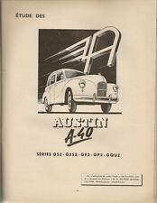 REVUE TECHNIQUE AUTOMOBILE 70 RTA 1952 ETUDE AUSTIN A40 GS2 G2S2 GV2 GP2 GQU2