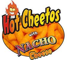 """Concession Sign Decal 7"""" Cheetos with Nacho Cheese Food Truck Menu"""