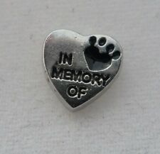 In Memory Of Floating Charm for your Glass Memory Lockets