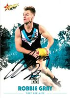 ✺Signed✺ 2017 PORT ADELAIDE POWER AFL Card ROBBIE GRAY
