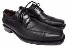 Johnston & Murphy men's 10.5 M Black leather oxfords formal dress shoes