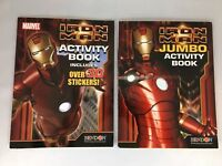 Bundle Of 2 Iron Man Jumbo Activity Books Stickers Coloring Activities 6 Total
