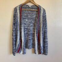 J Jill Small Cardigan Open Front Sweater Career Boho Cozy Lagenlook
