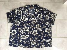 """Men's Hawaiian XL Summer Shirt 44"""" Stunning Blue Floral Print"""