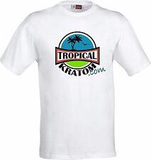 Tropical Kratom Weiß T-Shirt XL Mitragyna Speciosa maeng da