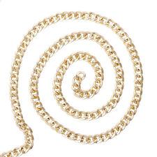 5m Collier chaine collier Blogueur plaqué or Article au mètre 7 x 8 mm