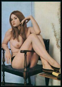 Pinup pin up DICKI nude woman original old 1950s Daily Girl Press postcard