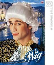 Blanc homme magistrat perruque Cour chambre Masquerade Masqué capitaine robe fantaisie