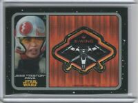 2016 Star Wars The Force Awakens Chrome Patches Pulsar Refractors Jess Testo /99