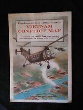 1968 Vietnam Conflict Map Original Military Hammond Incorporated War Chronology