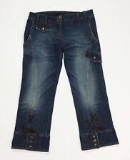 Annarita N bermuda jeans shorts donna usato blu w32 tg 46 pantalone corto T3557