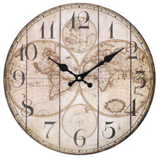 Wall Clock - VINTAGE MAP Design - (34cm)