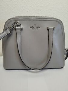 Kate Spade New York Patterson Drive Small Dome Satchel Handbag purse grey