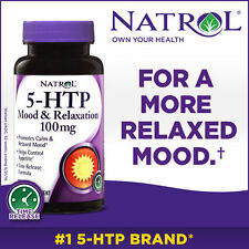 Natrol 5-HTP Mood & Relaxation 100mg, 150 Tablets Exp. March 31, 2019