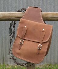 Used Tack Saddle Bags Gun oiled leather rough out Western gift hunter hunting