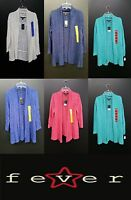 NEW Fever Fly Away 3/4 Sleeve Slub Knit Loose Open Cardigan Sweater - VARIETY
