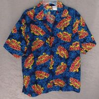 HAWAIIAN TROPIC Novelty Cruise VACATION Party BEACH Hawaiian Shirt SIZE LARGE
