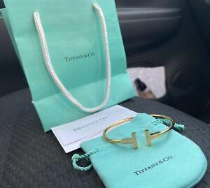 Tiffany & Co. T Diamond Wire Bracelet (gold)