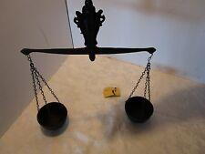 "Metal cast iron Decorative wall Scale justice lawyer fern Black 16"" tall Retro"