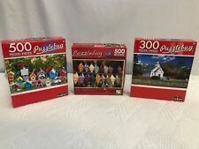 Puzzlebug CRA-Z-ART 500 & 300 Pieces Jigsaw Puzzles Lot of 3