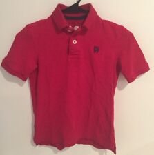 P.S. Aeropostale Boy Polo Short  Sleeve T Shirt Red Size XS (7)