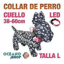COLLAR PERRO CAMUFLAJE LED ROSA AJUSTABLE TALLA L CUELLO 38-60cm L33LR 3119