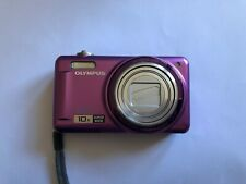 Olympus VR-310 14 MP Digital Camera Purple HD 10x zoom boxed instructions disc