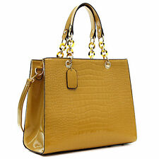 New Dasein Womens Handbags Croco Leather Satchels Tote Bag Shoulder Bags Purse
