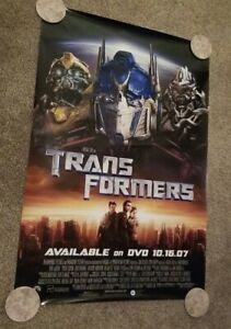 """Transformers 27""""x40"""" Movie Poster (2007) from Blockbuster!"""
