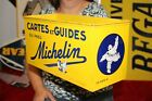 Rare Vintage 1940's Michelin Man Tires Road Map Display Gas Station Metal Sign