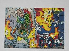 Topps Mars Attacks Trading Card 1994 Base Card NM #87 Baby Carriage Set Ablaze