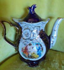 Thun Porcelain Czech Cobalt Gold Plated Teapot