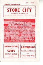 STOKE CITY V BLACKPOOL 9 JAN 1965 TOP DIV VGC. DISCOUNT POSTAGE!